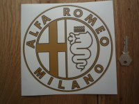 Alfa Romeo Circular Logo Window Sticker. 4