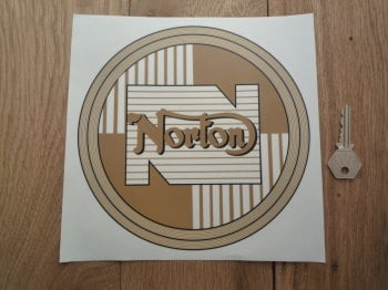 "Norton Circular Style Window Sticker. 4"" or 8""."