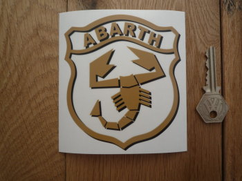 "Abarth Shield Shaped Window Sticker. 4""."