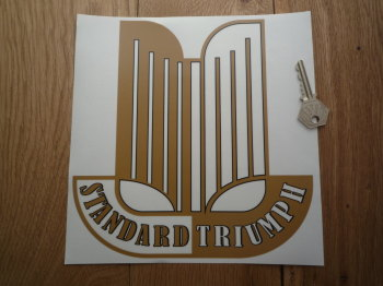 "Standard Triumph Shaped Window Sticker. 4"" or 8.5""."