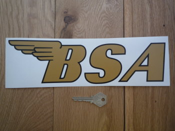 "BSA Winged Text Shaped Window Sticker. 11""."