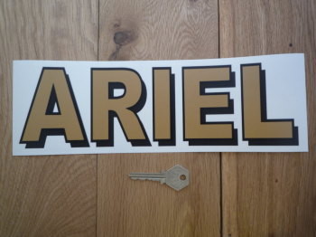 "Ariel Text Style Window Sticker. 6"" or 11""."