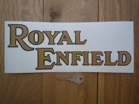 """Royal Enfield Text Shaped Window Sticker. 11""""."""