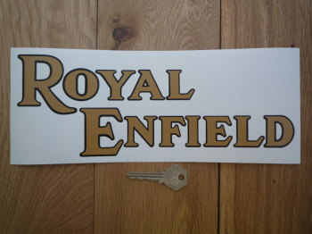 "Royal Enfield Text Shaped Window Sticker. 11""."