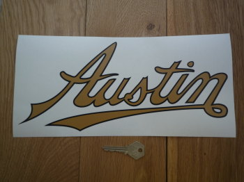 "Austin Text Style Window Sticker. 6"" or 12""."