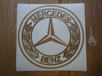 "Mercedes Benz Circular Window Sticker. 8""."