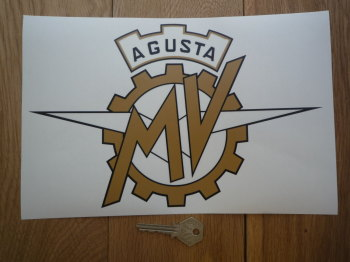 "MV Agusta Logo Style Window Sticker. 10.5""."