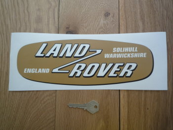 "Land Rover Shaped Window Sticker. 11""."