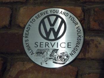 "Volkswagen VW Service Style Garage Workshop Wall Plaque Sign. 8"" or 11""."