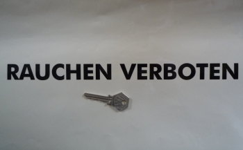 "Rauchen Verboten Upper-case No Smoking Cut Vinyl Stickers. 12.5"" Pair."