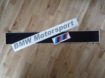 "BMW Motorsport Cut Vinyl Style Screentop Sunstrip Visor Decal. 48""."