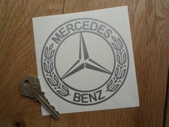 "Mercedes Benz Garland Logo Cut Vinyl Sticker. 4""."