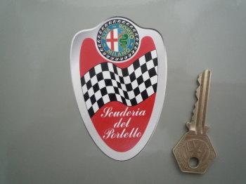 """Alfa Romeo Milano Scuderia del Portello Shield Sticker. 3.5""""."""