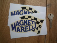 Magneti Marelli Competizione Chequered Flag on Cream Stickers. 6