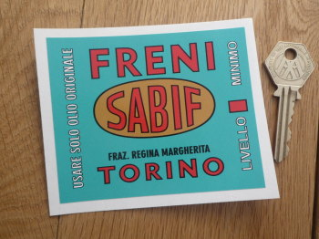 "Sabif Freni Brakes Sticker. 4""."