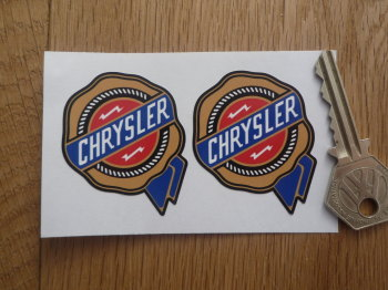 "Chrysler Coloured Rosette Shaped Logo Stickers. 2"" Pair."