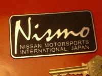 Nismo Nissan Motorsports International Self Adhesive Car Badge. 3.5