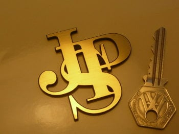 "JPS John Player Special Shaped Logo Style Self Adhesive Car Badge. 2.25""."