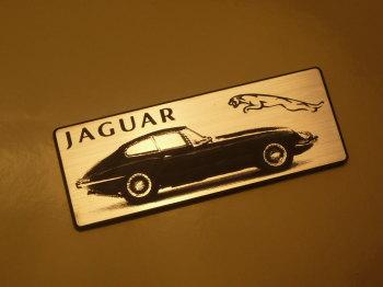 """Jaguar E-Type Oblong Style Laser Cut Magnet. 3"""""""