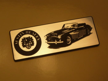 "Austin Healey 3000 Oblong Style Laser Cut Magnet. 3"""