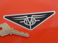 TVR Old Style Triangular Logo Sticker. 4
