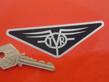 "TVR Old Style Triangular Logo Sticker. 4""."