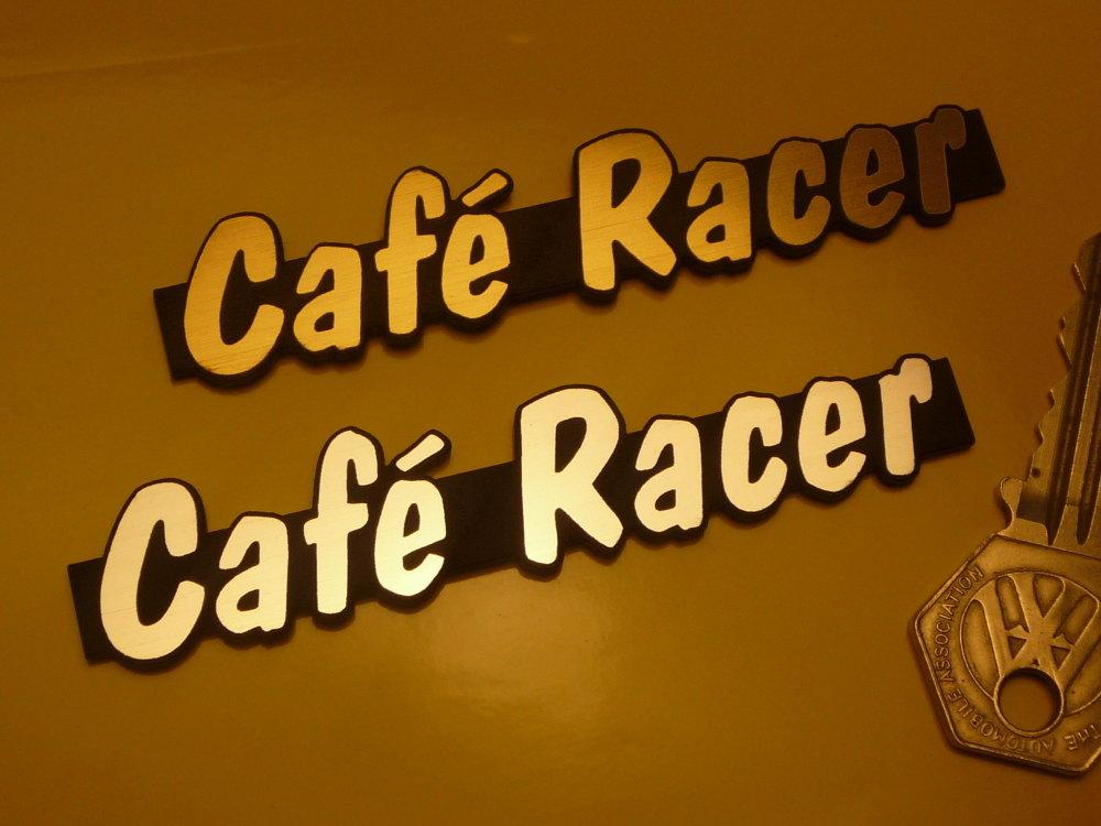 "Cafe Racer Laser Cut Self Adhesive Bike Badge. 4""."