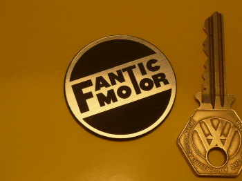 "Fantic Motor Laser Cut Self Adhesive Motorcycle Badge. 1.5""."