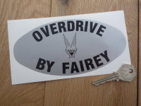 "Overdrive By Fairey Land Rover Sticker. 6.25""."