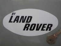 By Land Rover Black & White Sticker. 6.25