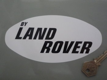 "By Land Rover Black & White Sticker. 6.25""."