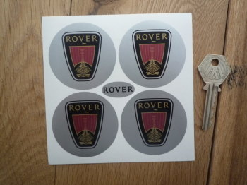 Rover Logo Wheel Centre Style Stickers No Coachline. Set of 4. 55mm.