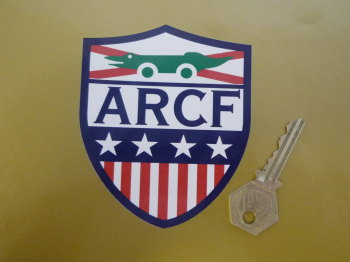 "ARCF Automobile Racing Club of Florida Shield Style Sticker. 4""."