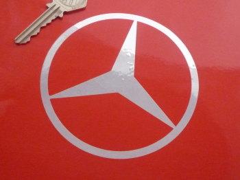 "Mercedes Simple Logo Cut Vinyl Sticker. 4"" or 6""."