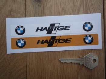 "BMW Hartge Number Plate Dealer Logo Cover Stickers. 5.5"" Pair."