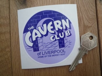 The Cavern Club of Liverpool Tax Disc Size Static Cling Sticker. 80mm.