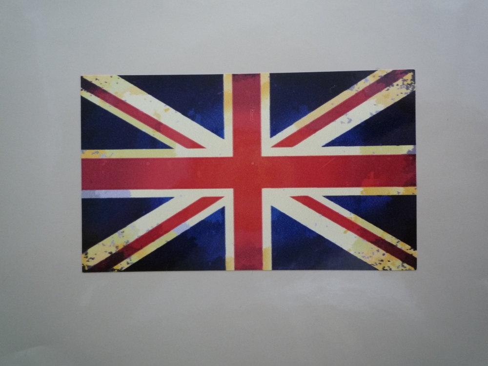 Union Jack Classic Aged Style Flag Sticker. 4