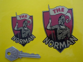 "The Norman Shield Style Motorcycle Sticker. 2.5"", 3"", or 3.5""."