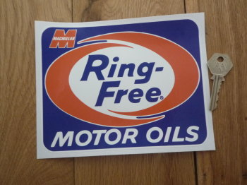 "Macmillan Ring-Free Motor Oils Sticker. 7""."