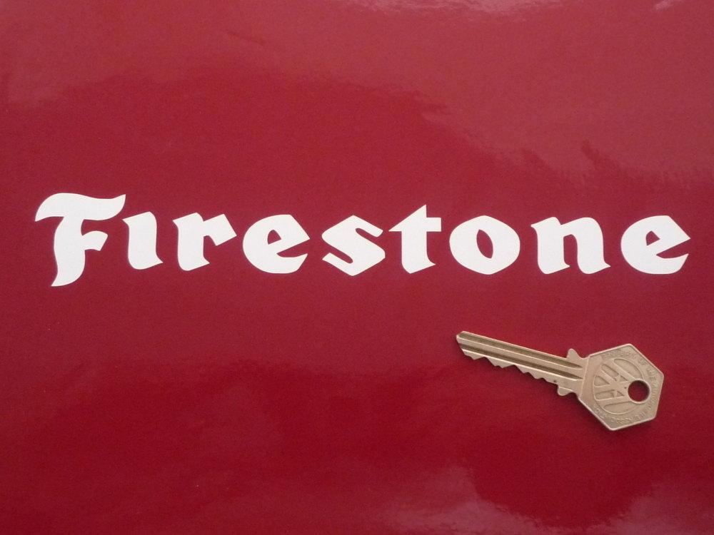 "Firestone Cut Vinyl Text Stickers. 8"" Pair. Various Colours."