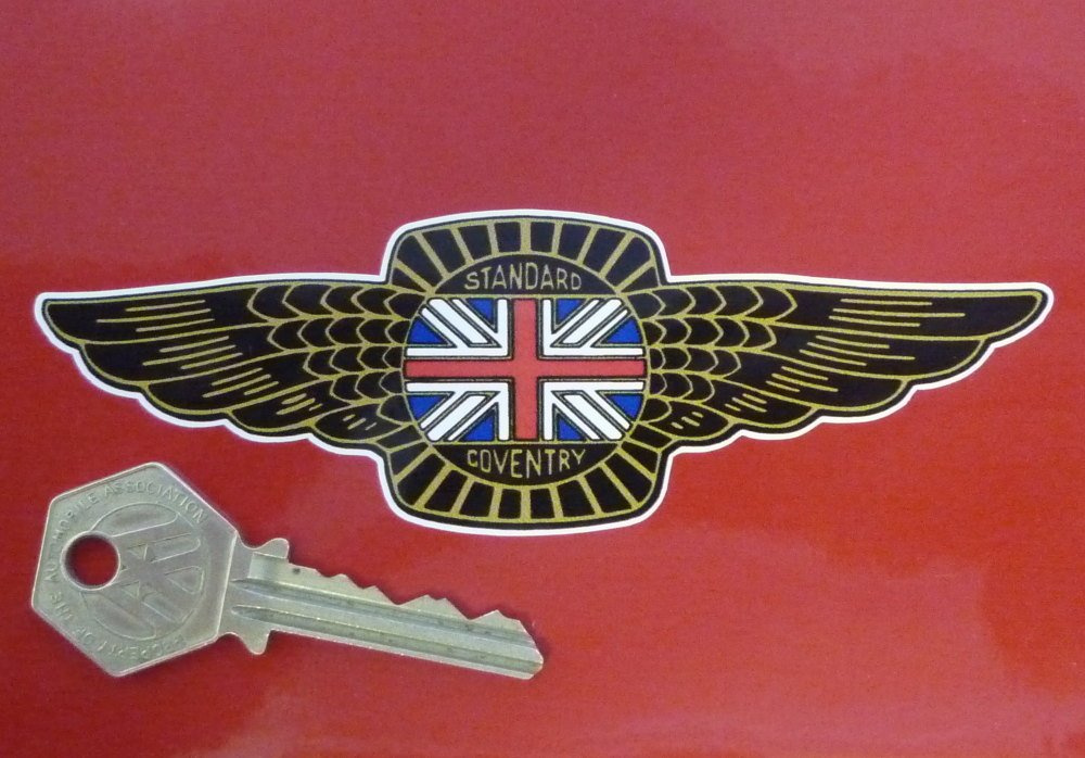 """Standard Coventry Winged Sticker. 5""""."""