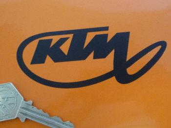 "KTM Stylised Script Cut Vinyl Sticker. 4""."