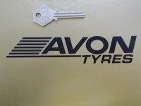 Avon Tyres Streaked Cut Vinyl Stickers. 6