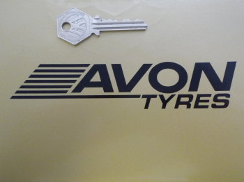 "Avon Tyres Streaked Cut Vinyl Stickers. 6"" Pair."