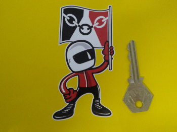 "Black Country Flagman Sticker. 4""."