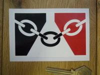 Black Country Flag Oblong Sticker. 4
