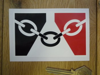 "Black Country Flag Oblong Sticker. 4""."