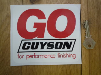Go Guyson For Performance Finishing Sticker 5.5""