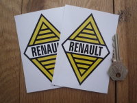 Renault Text Diamond Yellow & Black with White Band Stickers. 4