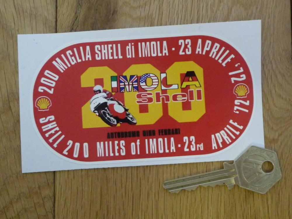 Imola Shell 200 Miles Autodromo Dino Ferrari Sticker. 4.75